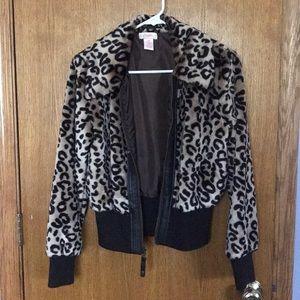 Never worn! Candie's leopard jacket!